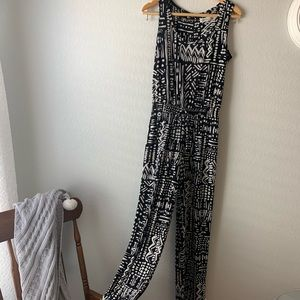 Calvin Klein | black and white tribal jumpsuit
